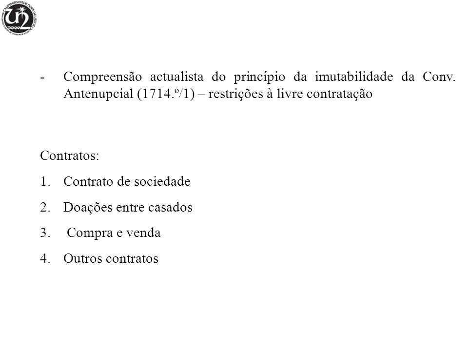 -Compreensão actualista do princípio da imutabilidade da Conv.