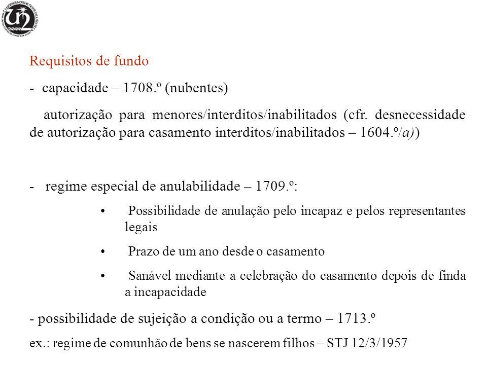 Regime da comunhão geral Regime convencional; regime supletivo para casamentos celebrados até 31/5/1967 (art.