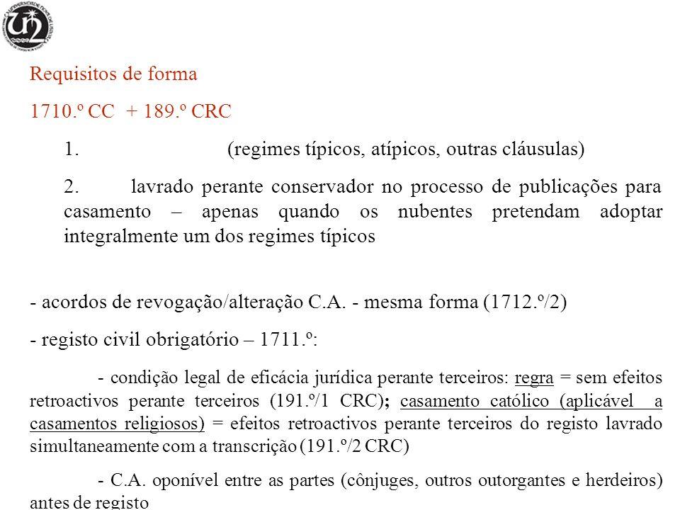 Requisitos de forma 1710.º CC + 189.º CRC 1.