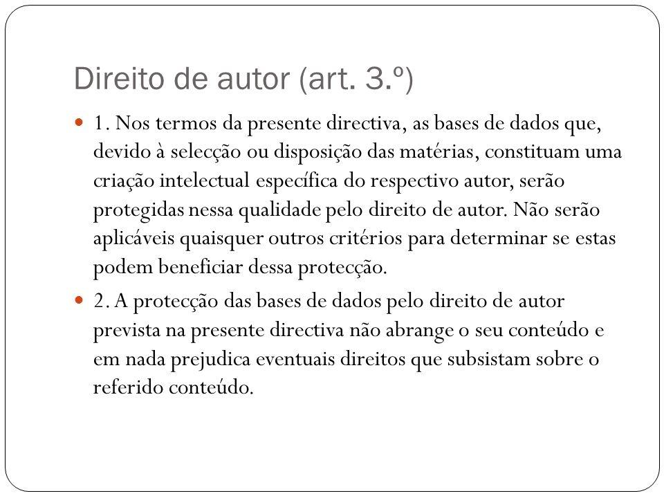 Direito de autor (art. 3.º) 1.
