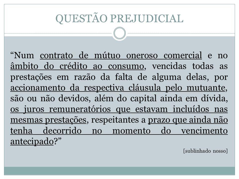 INTRODUÇÃO À QUESTÃO EM CAUSA Contrato de mútuo oneroso - Mútuo bancário Crédito ao consumo - Contrato de adesão Condições Gerais do contrato – Cláusula idêntica ao art.