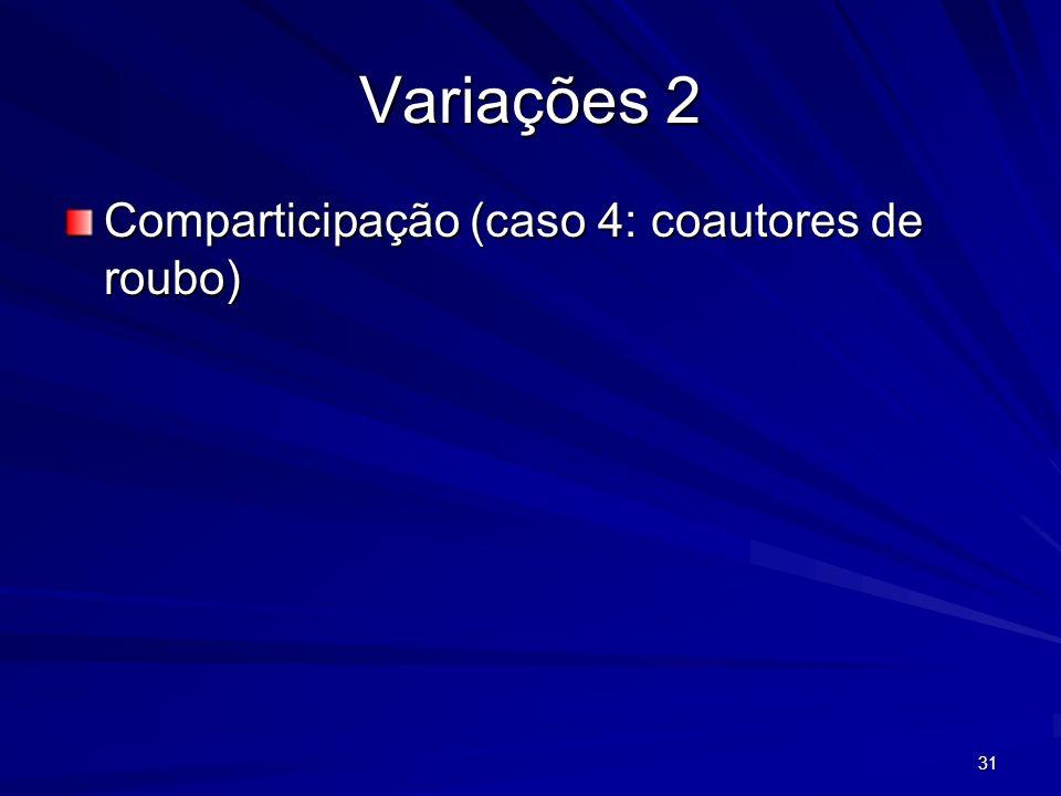 31 Variações 2 Comparticipação (caso 4: coautores de roubo)
