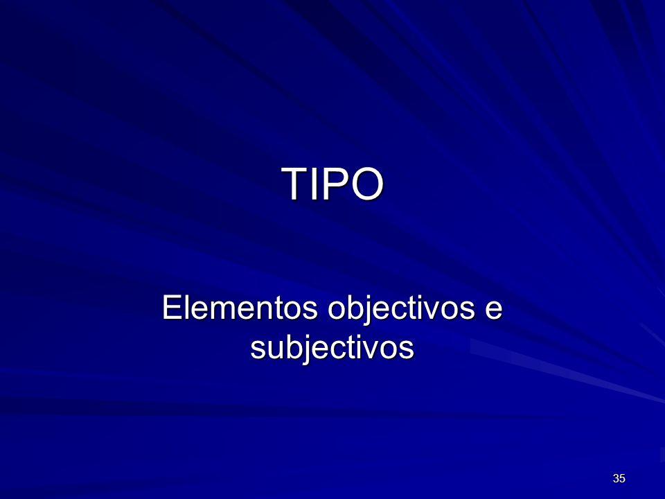 35 TIPO Elementos objectivos e subjectivos