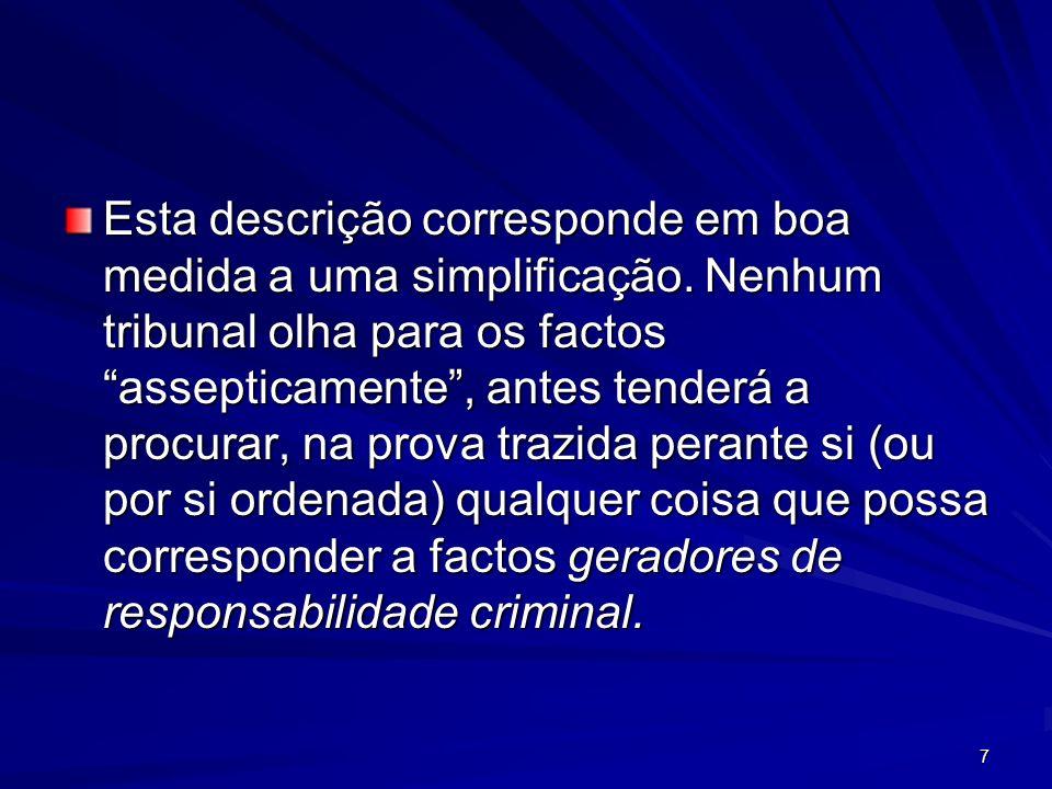 28 Condições de procedibilidade Por vezes a lei coloca condições de procedibilidade como 1.a necessidade de queixa do ofendido (artº 203, 178, etc); 2.ou a participação do Governo português ou estrangeiro (artº 324); 3.ou a exigência de o possível agente do crime ser encontrado em Portugal (artº 5).