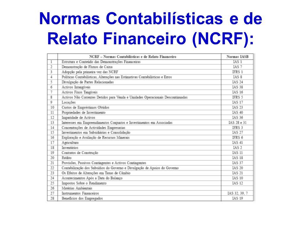 Normas Contabilísticas e de Relato Financeiro (NCRF):