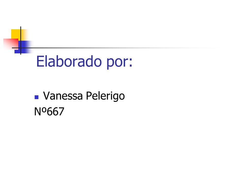 Elaborado por: Vanessa Pelerigo Nº667