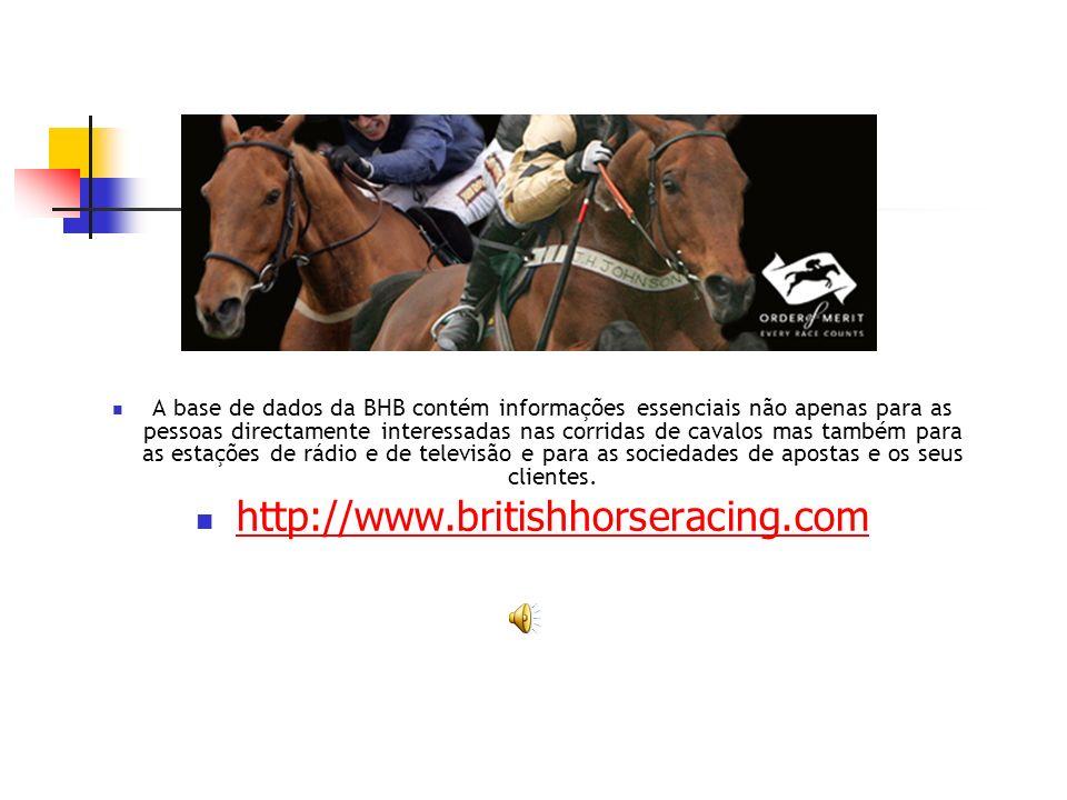 A base de dados da BHB contém informações essenciais não apenas para as pessoas directamente interessadas nas corridas de cavalos mas também para as estações de rádio e de televisão e para as sociedades de apostas e os seus clientes.
