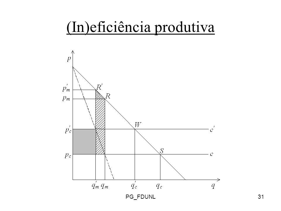 PG_FDUNL31 (In)eficiência produtiva