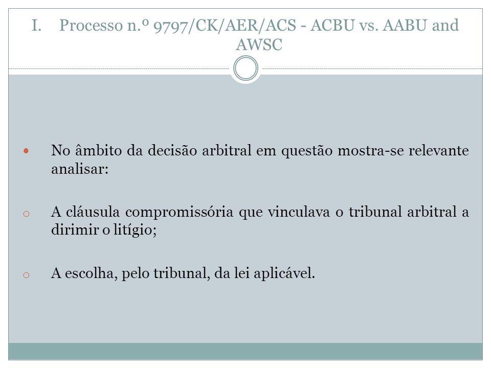 I.Processo n.º 9797/CK/AER/ACS - ACBU vs.