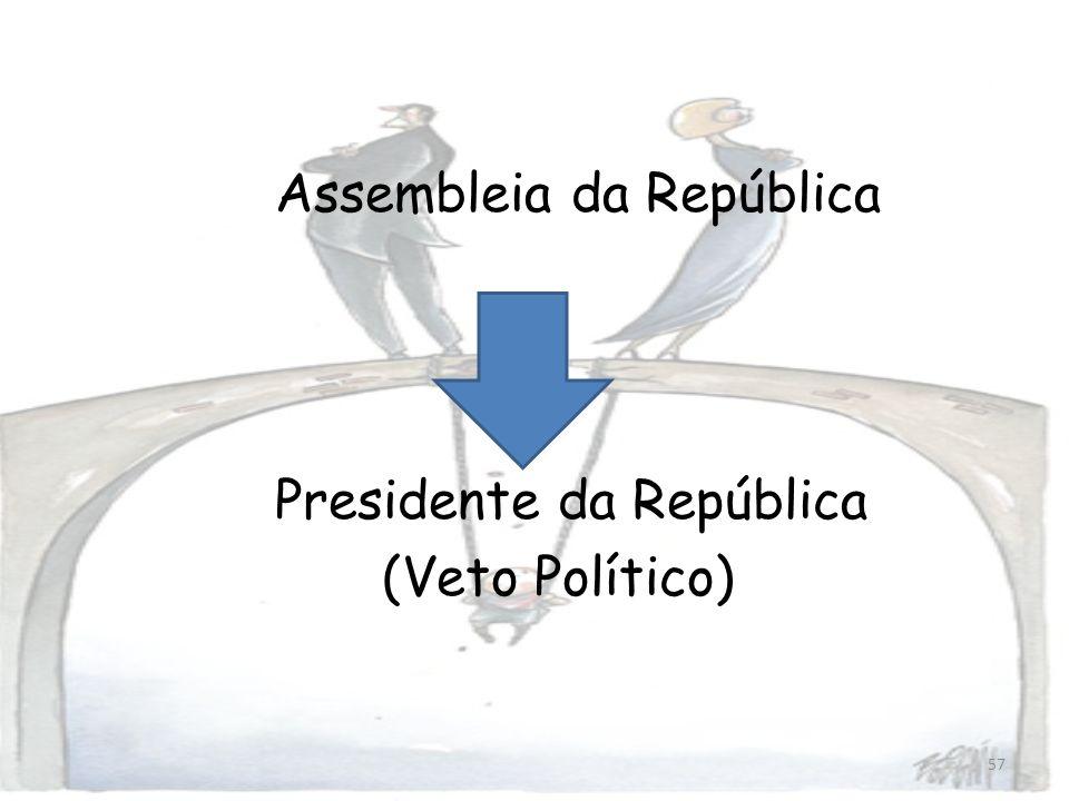 57 Assembleia da República Presidente da República (Veto Político)