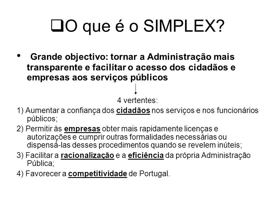 Partilha de Responsabilidades O Simplex é um programa de todo o Governo, verificando-se a responsabilidade partilhada de todos os Ministérios na sua execução.