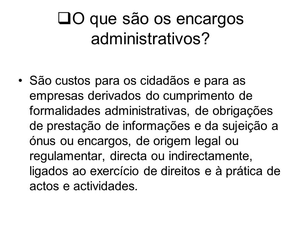 O que são os encargos administrativos.