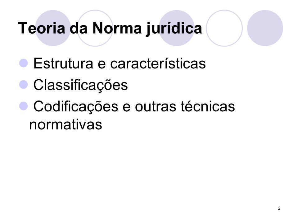 3 Estrutura da norma jurídica Previsão ou facti-species Estatuição Alguns exemplos no CC: art.