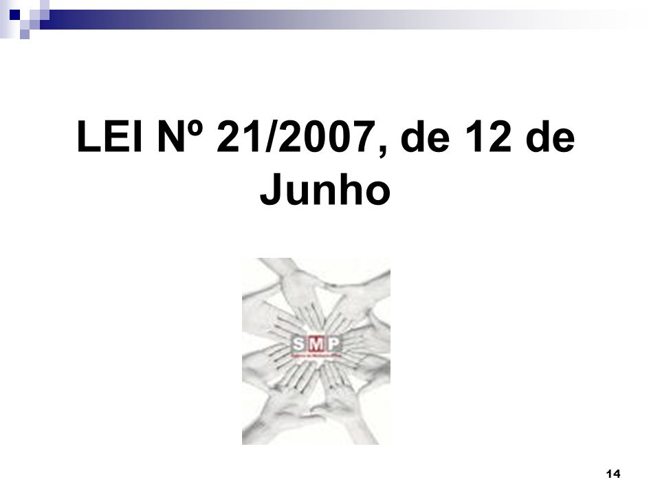 14 LEI Nº 21/2007, de 12 de Junho