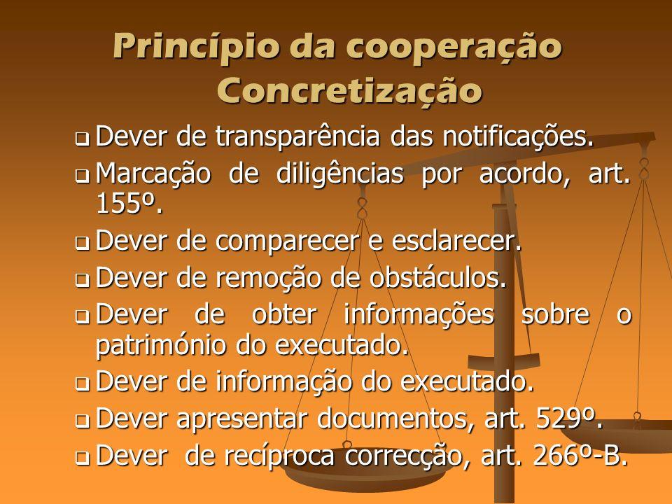 Princípio da cooperação Corolários do princípio da cooperação.
