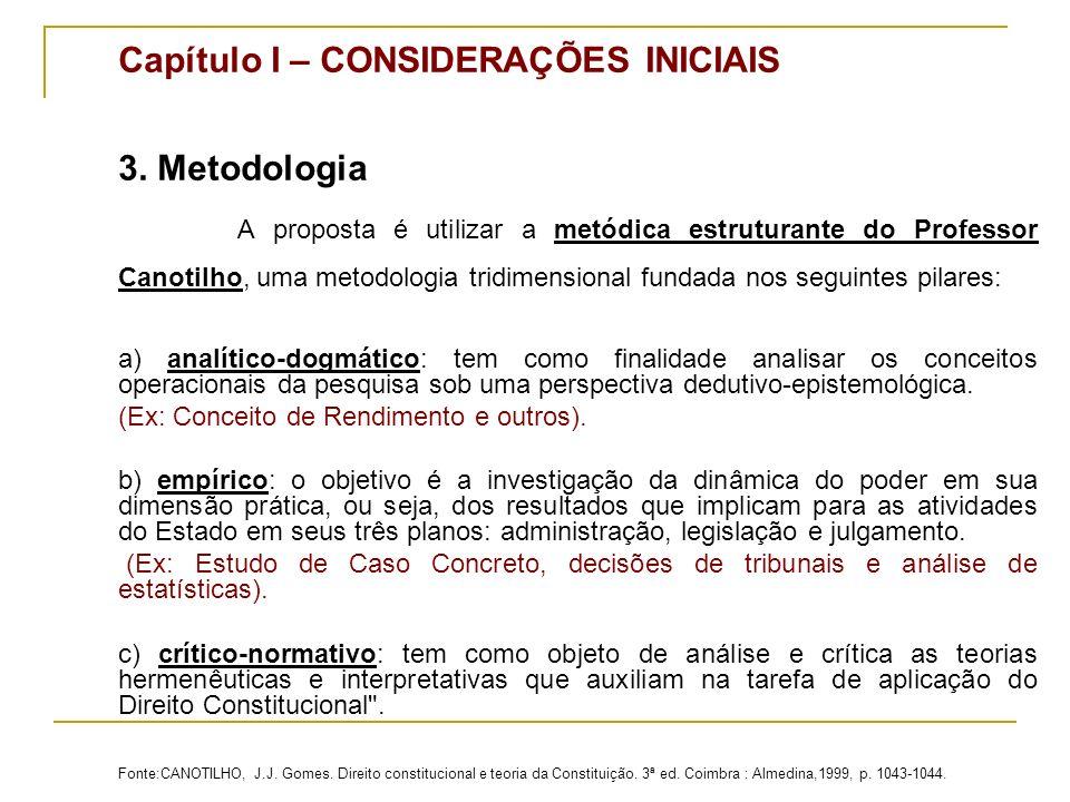 Capítulo I – CONSIDERAÇÕES INICIAIS 3.