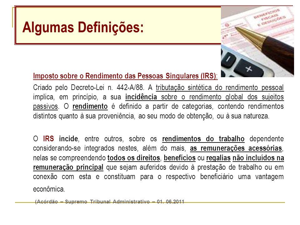 Imposto sobre o Rendimento das Pessoas Singulares (IRS) : Criado pelo Decreto-Lei n.