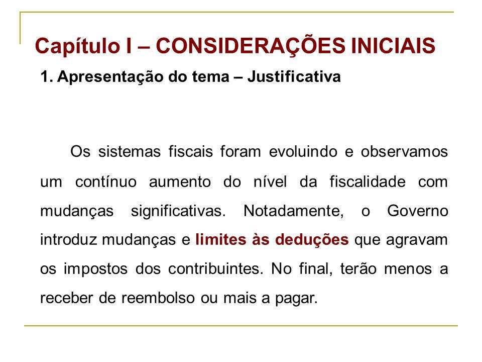 Capítulo I – CONSIDERAÇÕES INICIAIS 1.