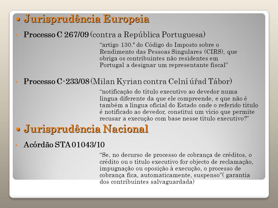 Jurisprudência Europeia Jurisprudência Europeia Processo C 267/09 (contra a República Portuguesa) artigo 130.º do Código do Imposto sobre o Rendimento