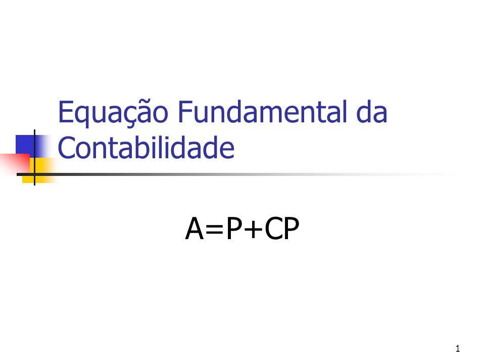 1 Equação Fundamental da Contabilidade A=P+CP