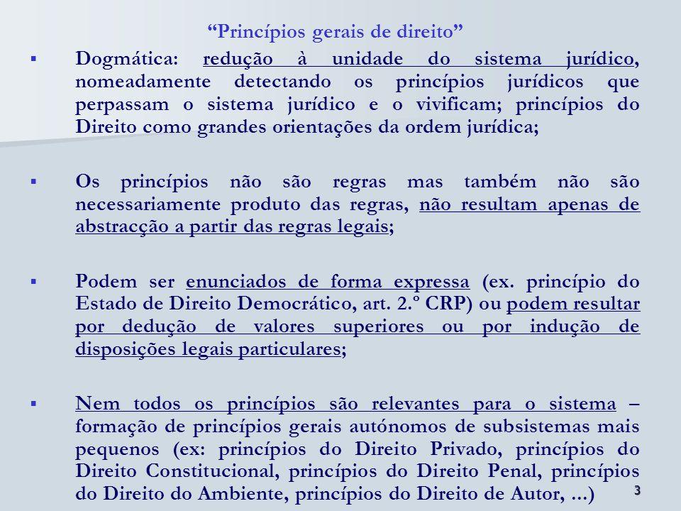 4 Funções dos princípios: 1.