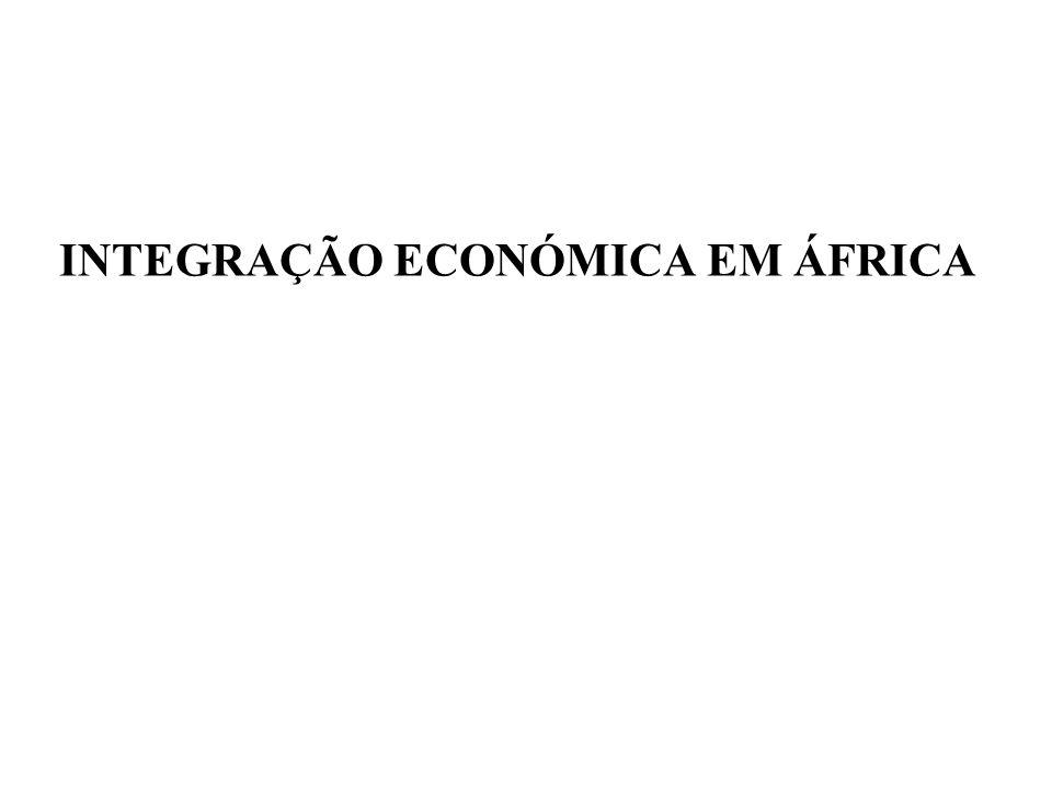 INTEGRAÇÃO ECONÓMICA EM ÁFRICA