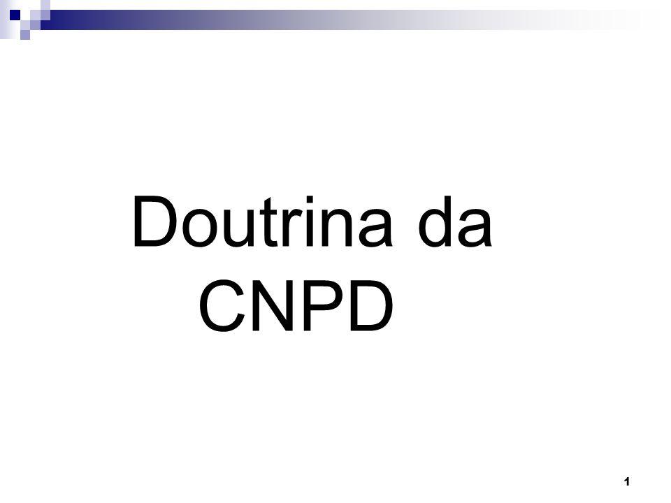 1 Doutrina da CNPD