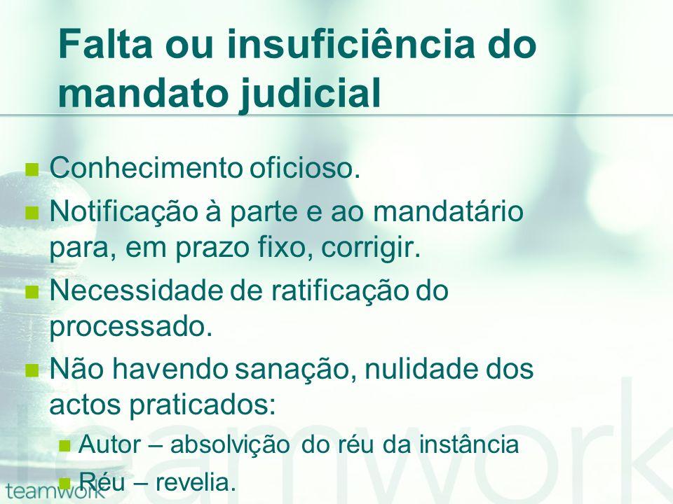 Falta ou insuficiência do mandato judicial Conhecimento oficioso. Notificação à parte e ao mandatário para, em prazo fixo, corrigir. Necessidade de ra