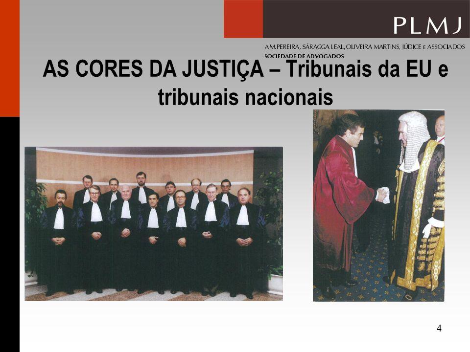 4 AS CORES DA JUSTIÇA – Tribunais da EU e tribunais nacionais