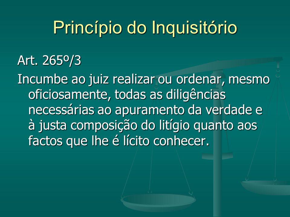 Princípio do Inquisitório Art.