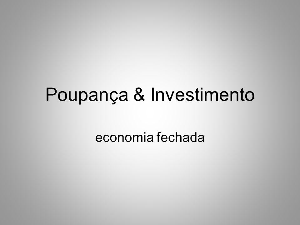 Poupança & Investimento economia fechada
