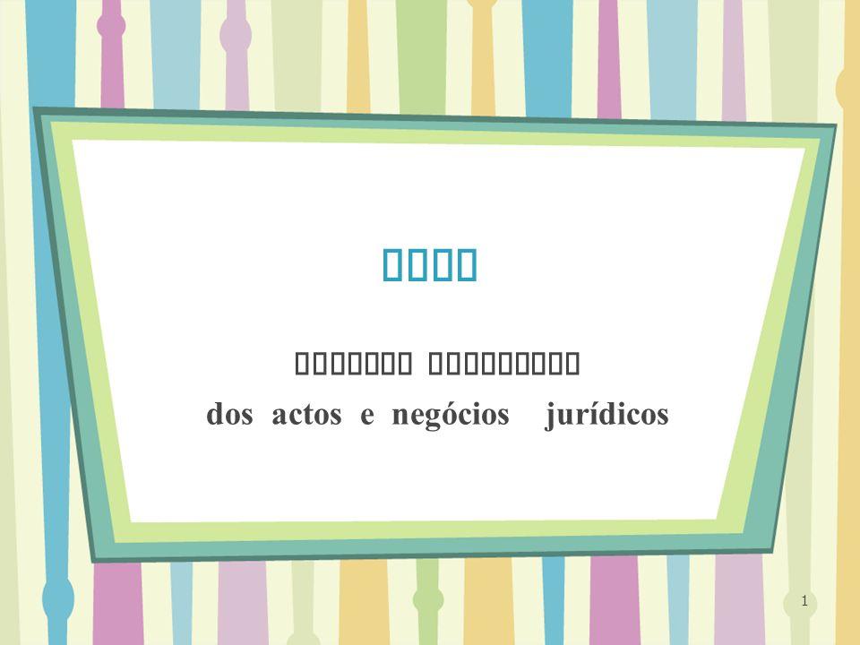 TGDP Valores negativos dos actos e negócios jurídicos 1