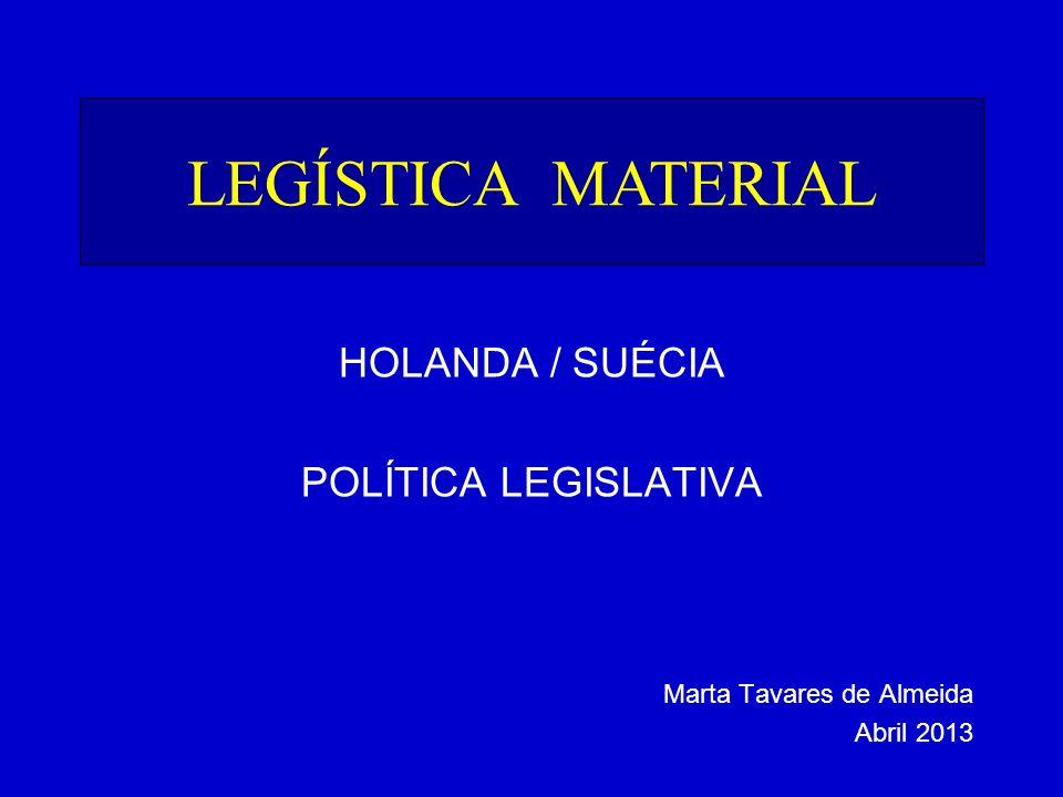 LEGÍSTICA MATERIAL HOLANDA / SUÉCIA POLÍTICA LEGISLATIVA Marta Tavares de Almeida Abril 2013