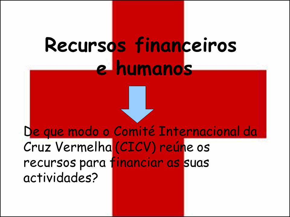 Recursos financeiros e humanos De que modo o Comité Internacional da Cruz Vermelha (CICV) reúne os recursos para financiar as suas actividades?