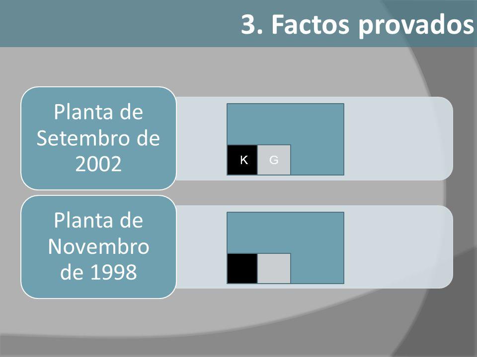 Planta de Setembro de 2002 Planta de Novembro de 1998 KG 3. Factos provados
