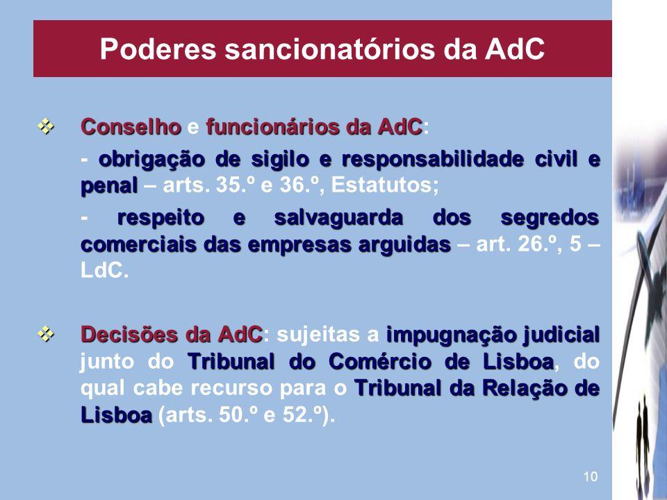 10 Conselhofuncionários da AdC Conselho e funcionários da AdC: obrigação de sigilo e responsabilidade civil e penal - obrigação de sigilo e responsabi