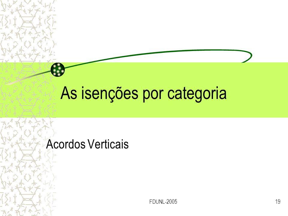 FDUNL-200519 As isenções por categoria Acordos Verticais