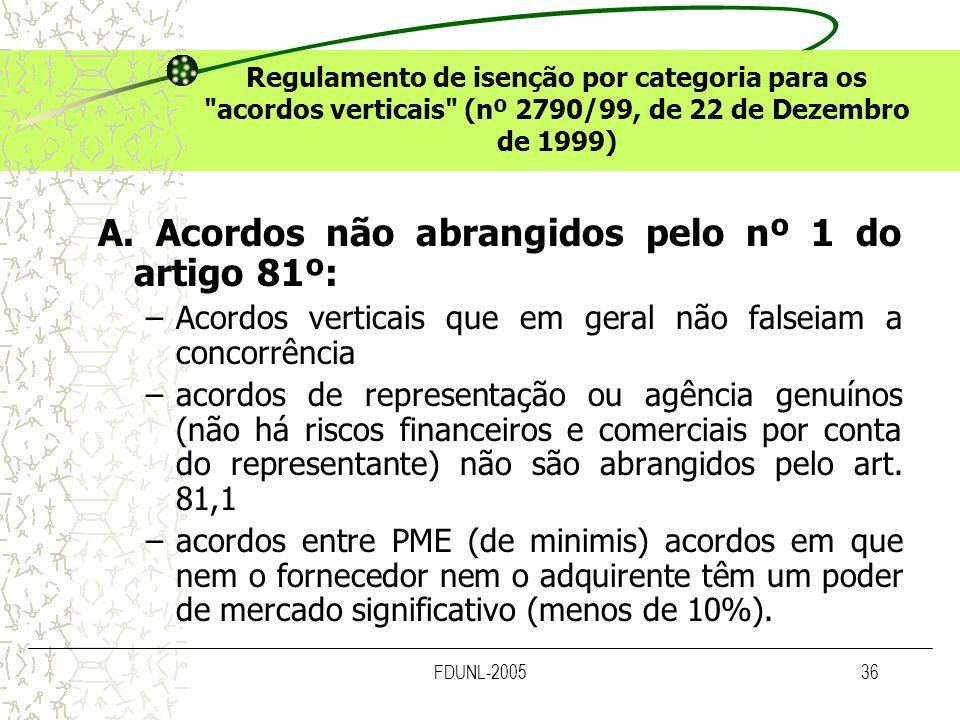 FDUNL-200536 Regulamento de isenção por categoria para os