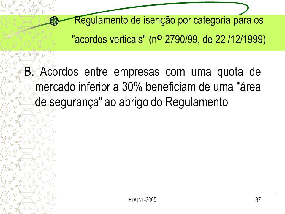 FDUNL-200537 Regulamento de isen ç ão por categoria para os