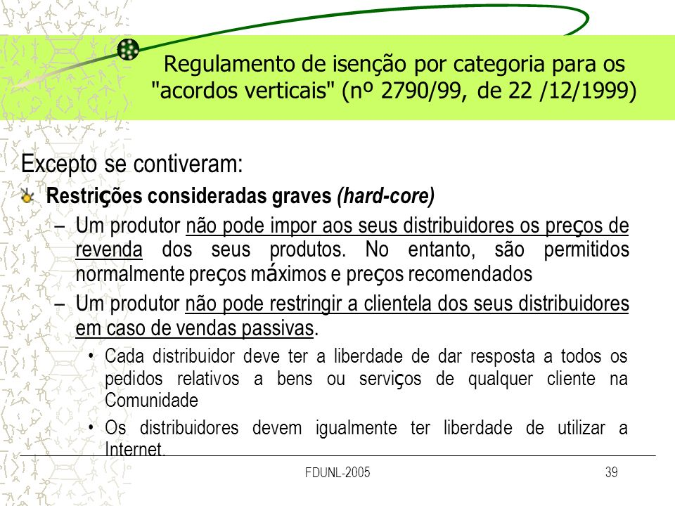 FDUNL-200539 Regulamento de isenção por categoria para os