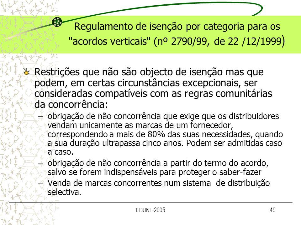 FDUNL-200549 Regulamento de isenção por categoria para os