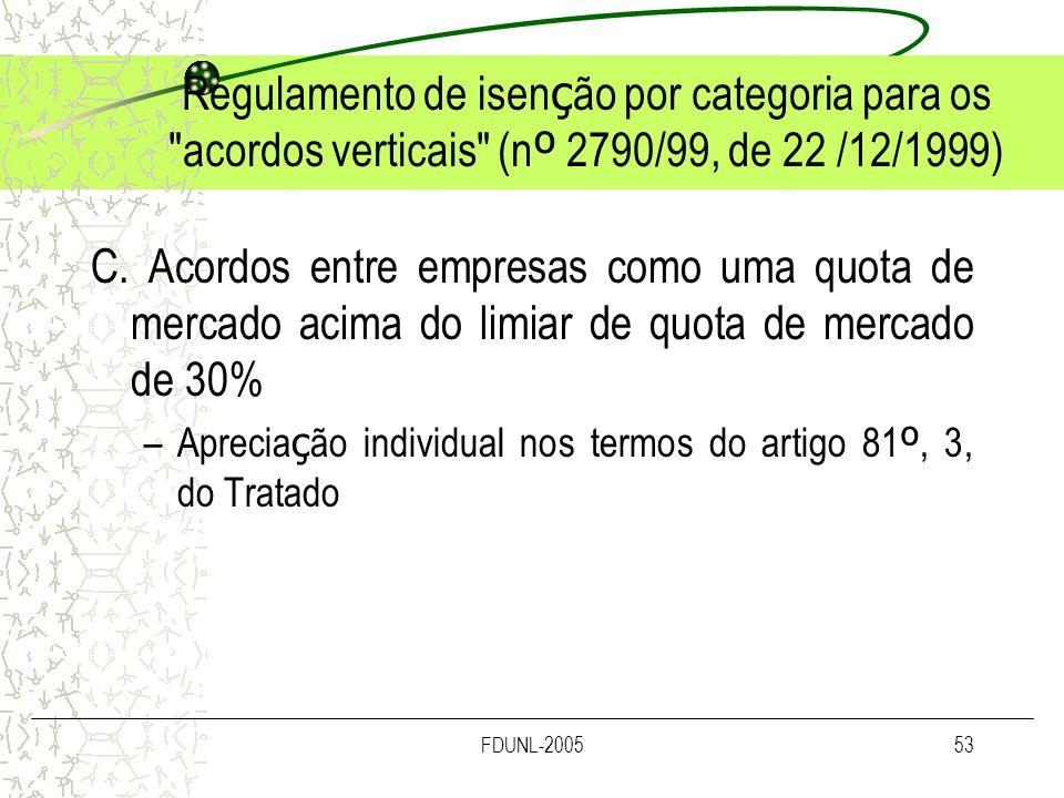 FDUNL-200553 Regulamento de isen ç ão por categoria para os