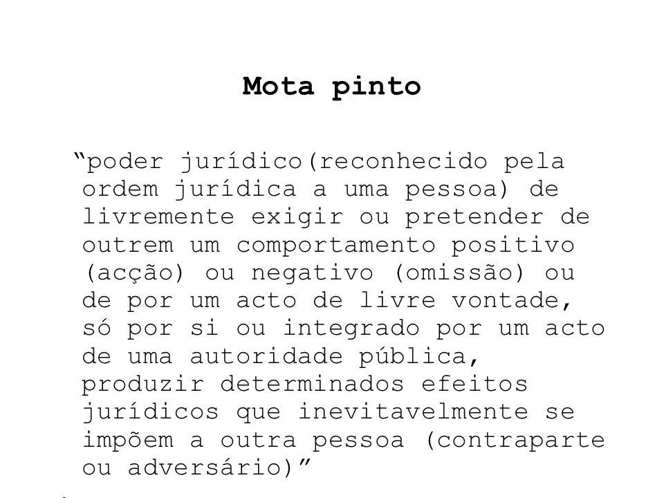 Carvalho Fernandes poder jurídico de realização de um fim de determinada pessoa, mediante a afectação jurídica de um bem