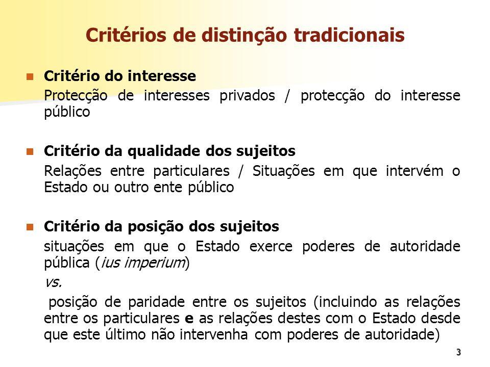 4 Outros factores de distinção: Predomínio dos parâmetros igualdade e liberdade vs.