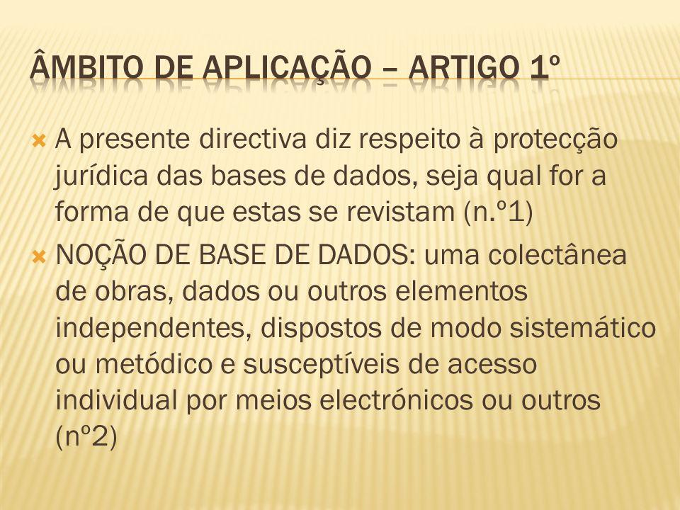 A protecção prevista na presente directiva não é aplicável aos programas de computador utilizados no fabrico ou no funcionamento de bases de dados acessíveis por meios electrónicos.