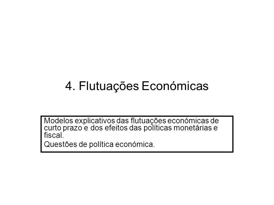 4. Flutuações Económicas Modelos explicativos das flutuações económicas de curto prazo e dos efeitos das políticas monetárias e fiscal. Questões de po