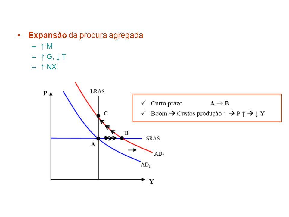 Expansão da procura agregada – M – G, T – NX