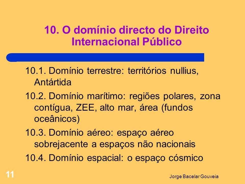 Jorge Bacelar Gouveia 11 10.O domínio directo do Direito Internacional Público 10.1.