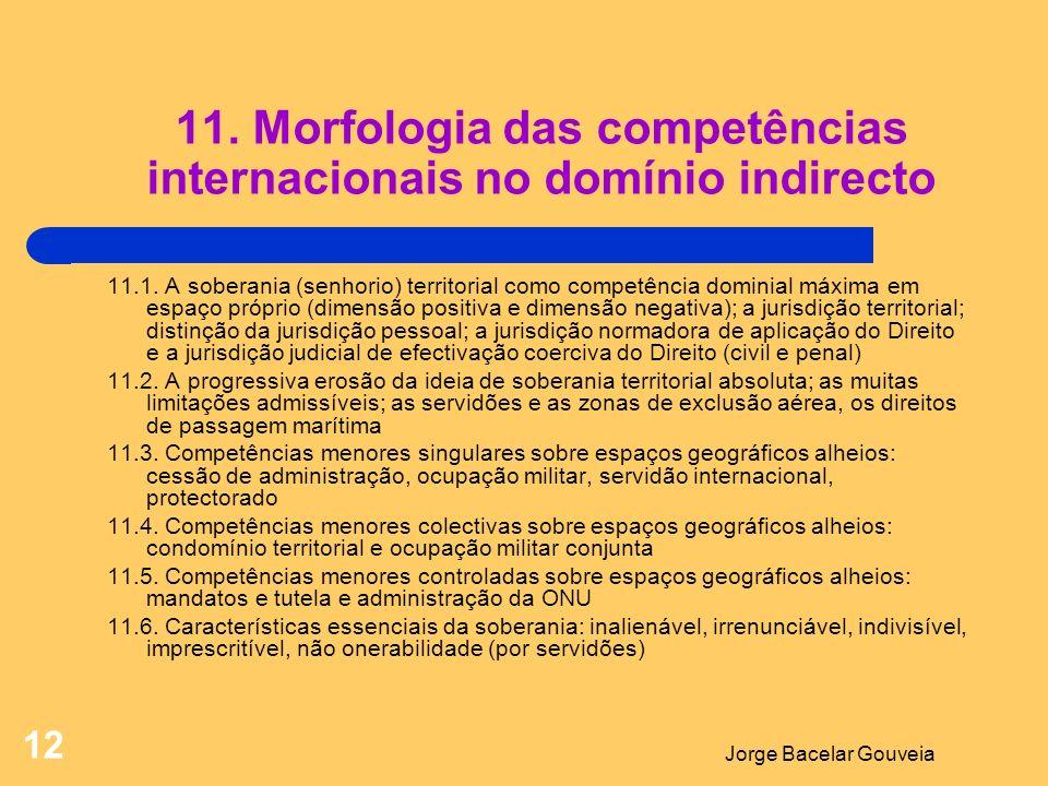 Jorge Bacelar Gouveia 12 11.Morfologia das competências internacionais no domínio indirecto 11.1.