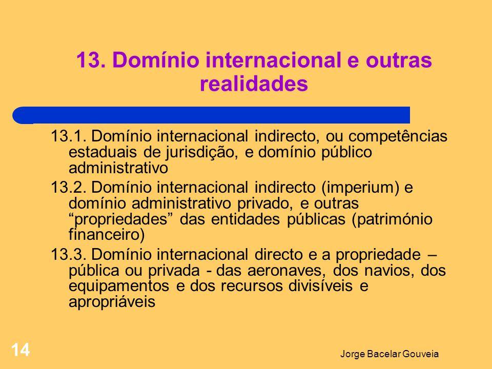 Jorge Bacelar Gouveia 14 13.Domínio internacional e outras realidades 13.1.
